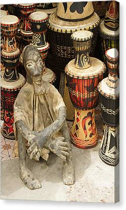 Woodcarving Canvas Print - Memories Of Ghana by Michele Burgess