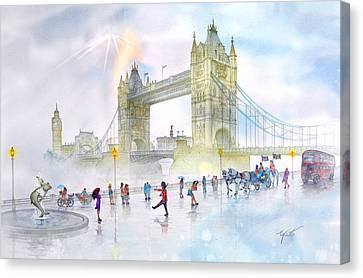 Memories Of London Bridge England Canvas Print by John YATO