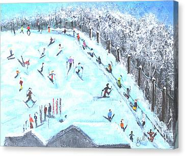 Memories Of Skiing Canvas Print