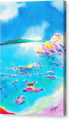 Memories Of Summer Holidays Canvas Print by Hisayo Ohta