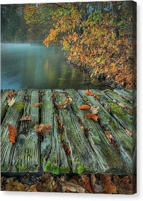 Memories Of The Lake Canvas Print by Jaki Miller