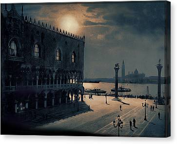 Canvas Print featuring the painting Memories Of Venice No 2 by Douglas MooreZart