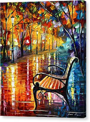 Memories... Small Version Canvas Print by Leonid Afremov