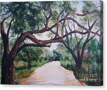 Canvas Print featuring the painting Memory Lane by Mary Lynne Powers