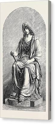 Memory Marble Statue Canvas Print