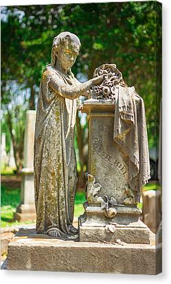 Memphis Elmwood Cemetery Monument - Cassie Hill Canvas Print by Jon Woodhams