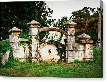 Confederate Monument Canvas Print - Memphis Elmwood Cemetery - Ayres Family Vault by Jon Woodhams