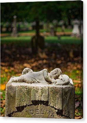 Memphis Elmwood Cemetery Monument - Adelma Canvas Print by Jon Woodhams