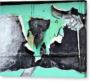 Memphis Found Art Green Good On Ya Canvas Print by Steve Archbold