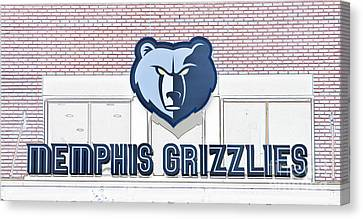 Memphis Grizzlies Canvas Print by Liz Leyden