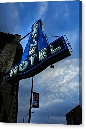 Memphis - Lorraine Motel 002 Canvas Print by Lance Vaughn