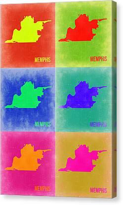 Memphis Pop Art Map 3 Canvas Print