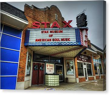 Memphis - Stax Records 001 Canvas Print by Lance Vaughn