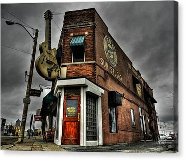 Rock Music Canvas Print - Memphis - Sun Studio 002 by Lance Vaughn