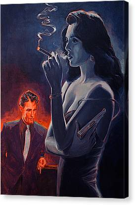 Men And Cigars Were The Same To Zelda If You Got Em Smoke Em Canvas Print by Shawn Shea