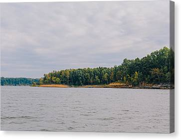 Men Fishing On Barren River Lake Canvas Print