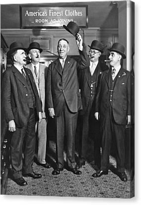 Men, Hats, And Cigars Canvas Print