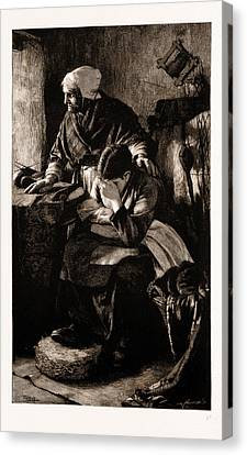 Men Must Work, And Women Must Weep, Though Storms Be Sudden Canvas Print by Litz Collection