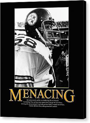 Steelers Canvas Print - Menacing Jack Lambert by Retro Images Archive