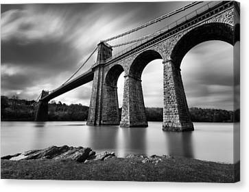Menai Suspension Bridge Canvas Print by Dave Bowman