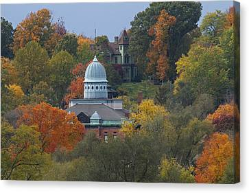 Menard County Courthouse Canvas Print by Eric Mace