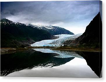 Mendenhall Glacier Canvas Print by Heather Applegate
