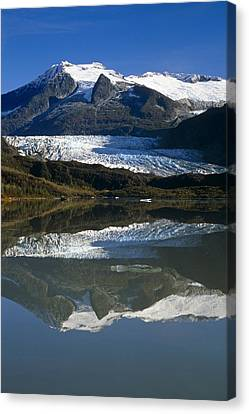 Mendenhall Glacier Reflects In Its Own Canvas Print