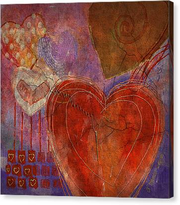Canvas Print featuring the digital art Mending A Broken Heart by Arline Wagner