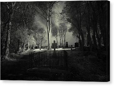 Menlo Cemetery Canvas Print by Peter Skelton