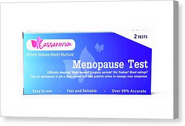 Menopause Test Canvas Print by Cordelia Molloy