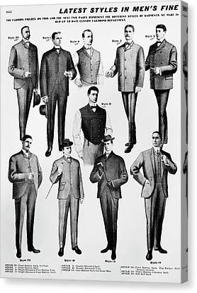 Men's Fashion, 1902 Canvas Print by Granger