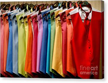 Mens Tuxedo Vests In A Rainbow Of Colors Canvas Print by Amy Cicconi