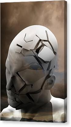 Psychiatric Canvas Print - Mental Health Degeneration by Tim Vernon