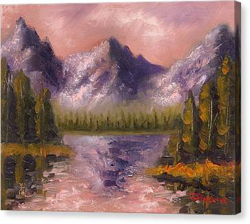 Canvas Print featuring the painting Mental Mountain by Jason Williamson