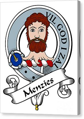 Menzies Clan Badge Canvas Print