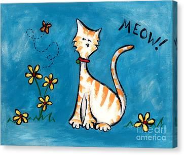 Meow Canvas Print by Diane Smith
