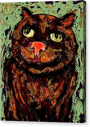 Meow Canvas Print by Natalie Holland