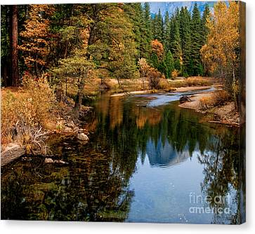 Canvas Print - Merced River And Half Dome by Terry Garvin
