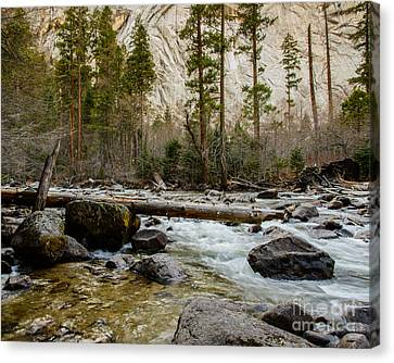 Merced River From Happy Isles 2 Canvas Print