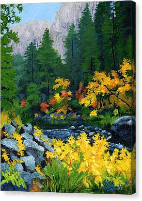 Yosemite Valley Canvas Print - Merced River In Autumn by Alice Leggett