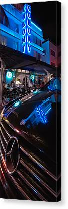 Mercedes At The Colony Canvas Print by Gary Dean Mercer Clark