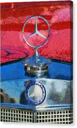 Mercedes Badge Canvas Print by George Atsametakis