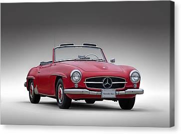 Mercedes Automobile Canvas Print - Mercedes-benz 190 Sl by Douglas Pittman