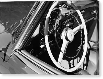 Mercedes-benz 190sl Steering Wheel Canvas Print by Jill Reger