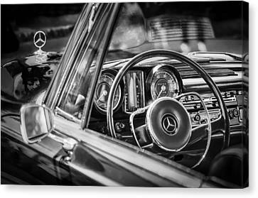 Emblem Canvas Print - Mercedes-benz 250 Se Steering Wheel Emblem by Jill Reger