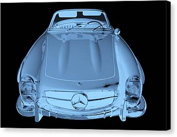 Mercedes Benz 300 Sl Convertible Modern Art Canvas Print