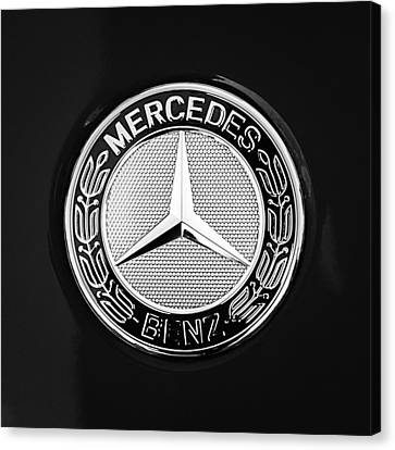 Car Canvas Print - Mercedes-benz 6.3 Gullwing Emblem by Jill Reger