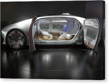 Mercedes-benz F015 Autonomous Car Canvas Print by Jim West