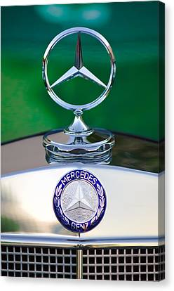 Mercedes Benz Hood Ornament 3 Canvas Print by Jill Reger