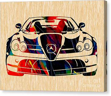 Mercedes Benz Painting Canvas Print